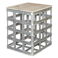 Lewis Galvanized Metal Side Table JCPenney