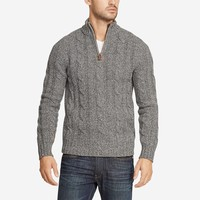 Lambswool Cable Half-Zip | Bonobos