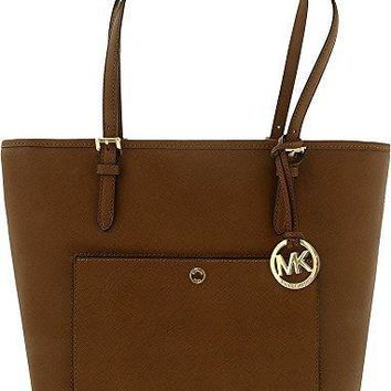 MK Women Shopping Bag Leather Tote Handbag Michael Kors Mk Jet Set Signature Shoulder