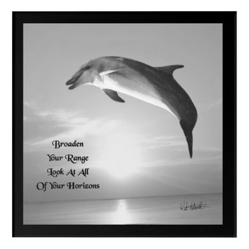Horizons Quote by Kat Worth Acrylic Wall Art