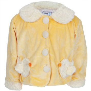 PEAPGQ9 Chick Body Fuzzy Infant Jacket