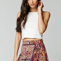 LA Hearts Challis Skort - Womens Skirt - Purple