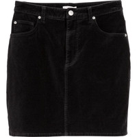 Short Velvet Skirt - from H&M
