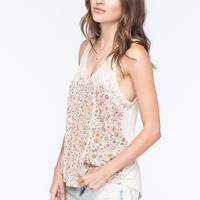 TAYLOR & SAGE Womens Mixed Floral Tank | Tanks
