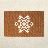 Snowflake Doormat – Holiday Doormat  – Welcome Mat - Outdoor Rug - Home Decor, Holiday Decor, Christmas Decor, Seasonal Decor