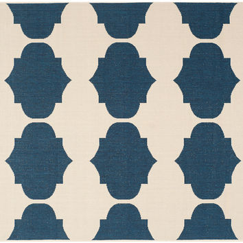 Rug, Beige/Navy, Area Rugs