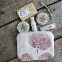 Travel Spa Gift Set / Soap Lip balm and bath salt Gift Sets Gift Ideas For Her bath and beauty Gift Sets All Natural Set home and living