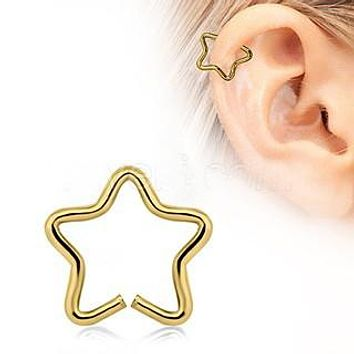 Gold Star Shaped Cartilage Earring