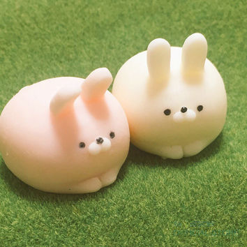 Rabbit Squishy Slow Rising Kawaii Mini Mochi Bunny Phone Strap Squeeze Stretchy Cute Pendant Bread Cake Kids Toy Gift 1 PCS