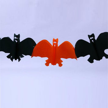 Halloween Decoration Garland Skull Bat Ghost Pumpkin Spider Color-Bar Halloween Christmas Gift party decoration 20 units/lot 3m