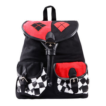DC Comics Harley Quinn Knapsack Backpack School Bag