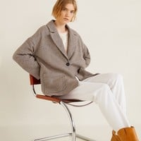 Check structured blazer - Women | MANGO United Kingdom
