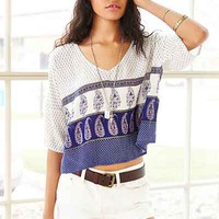 Band Of Gypsies Border Print Tee - Urban Outfitters