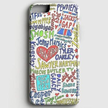 Collage Youtubers Art iPhone 8 Case