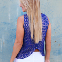 Blueberry Lace Tank