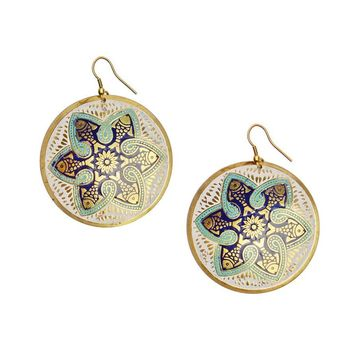 Tzolkin Earrings - Navy - Matr Boomie (Jewelry)