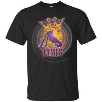 LEBRON JAMES LA LOS ANGELES LAKERS NBA KING T-Shirt 4