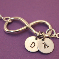Personalized Handstamped Infinity Bracelet