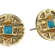 House of Harlow 1960 Maricopa Coin Stud Earrings Turquoise - Zappos.com Free Shipping BOTH Ways