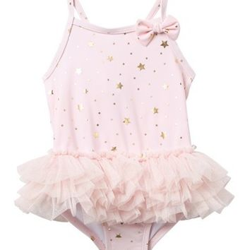 Little Me | Glitzy Star Swimsuit (Baby Girls) | Nordstrom Rack