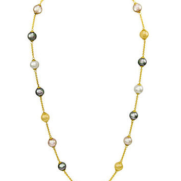 Majorica 18Kt. Gold Pearl Illusion Necklace
