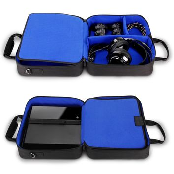 USA GEAR PlayStation 4 Pro Case / Sony PS4 Pro 4K Travel Console Carrying Bag with Controller , Games , Headset , Accessories Storage and Adjustable Padded Shoulder Strap - Fits PS4 & PS3 Models