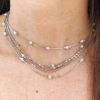 Talk Of The Town Choker: Silver