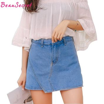 Denim Shorts Woman Summer Pocket Jeans Skirt Shorts For Women