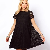 2016 New Bottoming lace Dress Women Summer Style Dress Sexy Party vestidos Plus Size Female Maxi Boho Clothing Bodycon