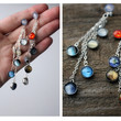 Long Elegant Solar System Dangles with Planets, Sun, and Milky Way