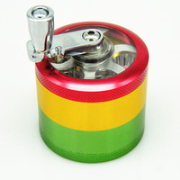 4 layers Rasta Handle Grinder