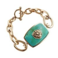 Rectangular Turquoise Fashion Bracelet in Bronze         -                Colored Gem Bracelets         -                Bracelets         -                Jewelry         -                Categories                       - Helzberg Diamonds