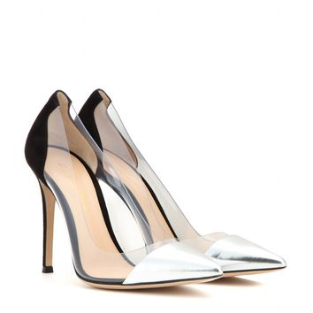 gianvito rossi - metallic leather and transparent pumps
