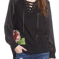 True Religion Lace-Up Pullover | Nordstrom