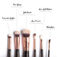 15 PCS ROSE GOLD MAKEUP BRUSH SET Professional Luxury Set Make Up Tools Kit ZOEVA Powder Blending brushes