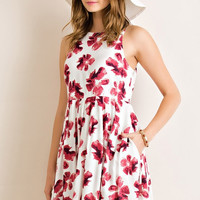 Flawless Floral Sundress Dress - Rose