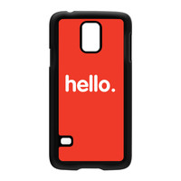 Hello Black Hard Plastic Case for Samsung Galaxy S5 by textGuy