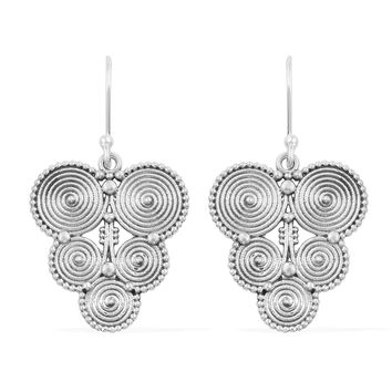 Artisan Crafted Sterling Silver Earrings 5.7 grams