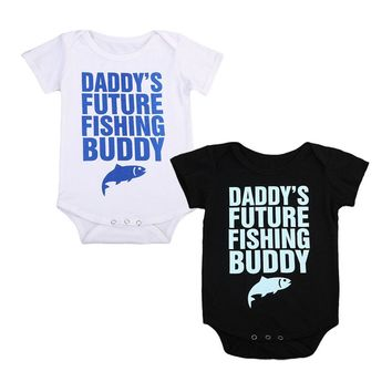 Daddy's Future Fishing Buddy Infant Baby Onesuit Bodysuit