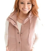 Hit The Slopes Vest In Mauve