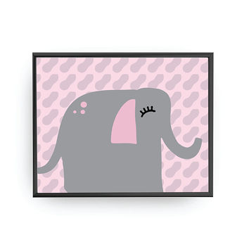 Elephant Poster, Baby Print, Kids Decoration, Kids Room Decor, Education Art, School Room Decor, Nursery Decor, Cute Animal, Nursery Poster