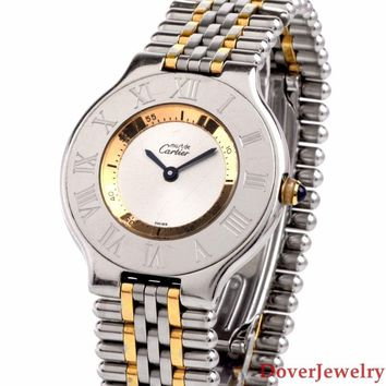 Cartier Must de Cartier 21 Steel Ref 1340 28mm Unisex Watch 64.0 Grams NR
