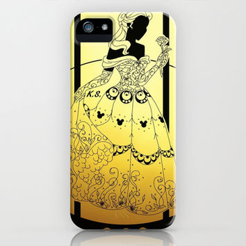 Silhouettes Belle iPhone & iPod Case by Katie Simpson