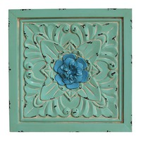 Stratton Home Medallion Square Metal Wall Decor