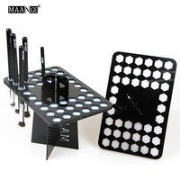 MAANGE 14/26/42 Holes Acrylic Makeup Brushes Holder Stand Air Drying Makeup Brush Organizing Rack Cosmetic Holder Free Shipping