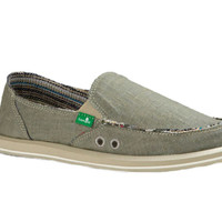 Sanuk Donna Hemp Olive Grey Sidewalk Surfers