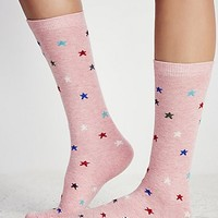 Lisa B Womens Lucky Star Crew Sock