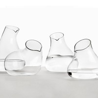 Sede Carafes – A Series of Four Unique Shapes in Mouth Blown Glass