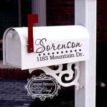 Personalized Mailbox Vinyl Decals
