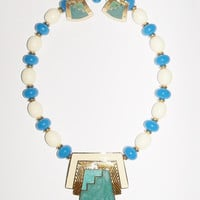 Vintage Trifari Necklace and Earrings Egyptian Incan Mayan Beach Wedding Bridal Party Prom Jewelry Jewellry Gift